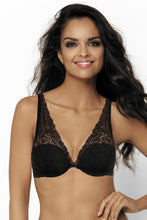 Load image into Gallery viewer, Padded Bra with Lace Overlay, Black