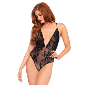 Leg Avenue lace plunge body suit