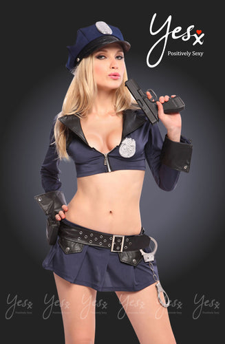 Women's sexy police outfit with cuffs