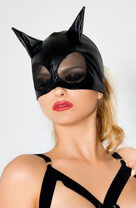 Me Seduce Semi-covered Kitty Mask Black