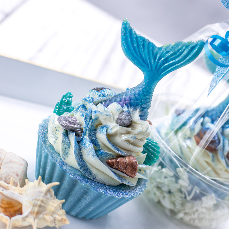 Mermaid Tails Cupcake Soap