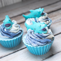 Shark Attack Cupcake Soap & Bath Toy
