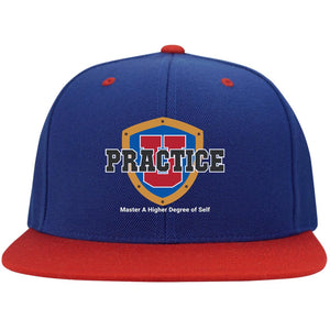 "My ""Practice U"" Thinking Cap: Flat Bill High-Profile Snapback"