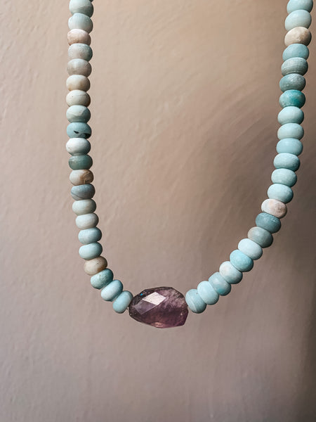 Amazonite and Amethyst Dream Collar