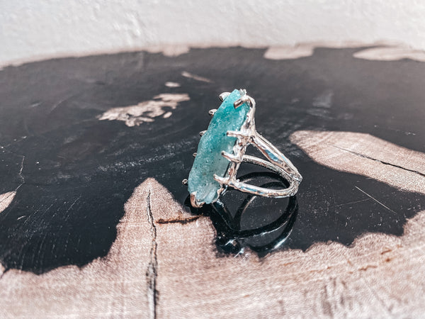 One Of A Kind Raw Amazonite Ring