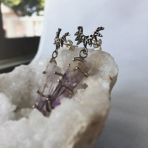 Warrior Crystal Earring Drops