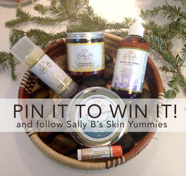 I want to win organic skin care from Sally B's Skin Yummies! #SallyBsSkinYummies. www.sallybskinyummies.com