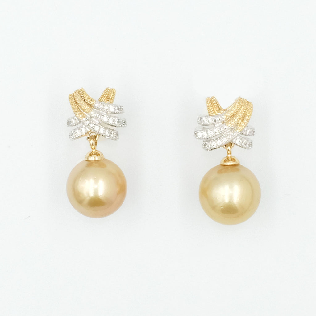 Sirène d'or South Sea Pearl Earrings - Aniya Jewellery