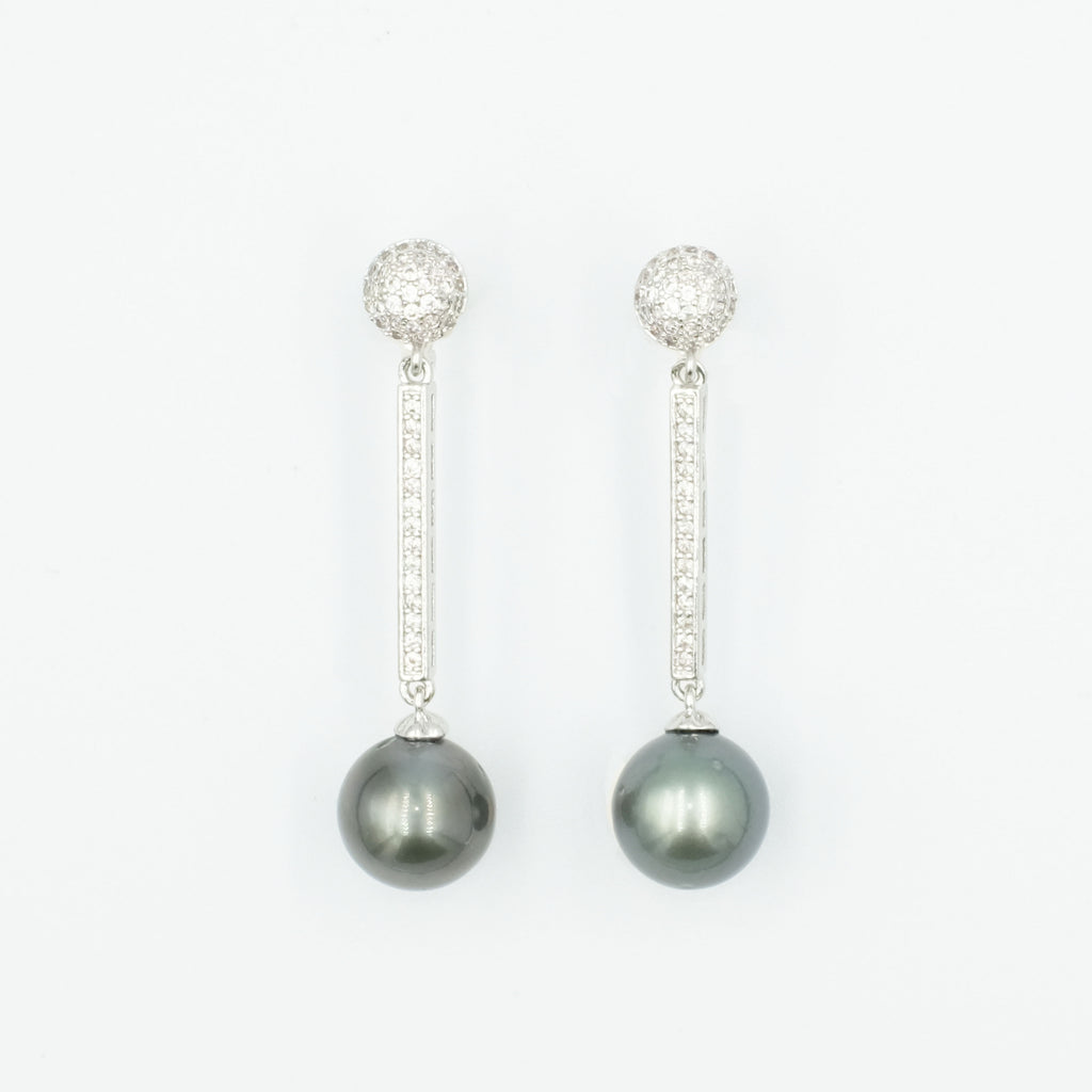 Marga Tahitian Pearl Dangling Earrings - Aniya Jewellery