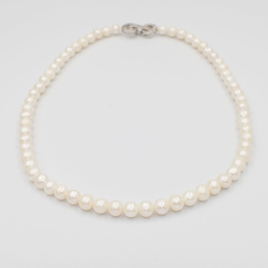 Classic and Dainty Single strand Pearl Necklace - Aniya Jewellery