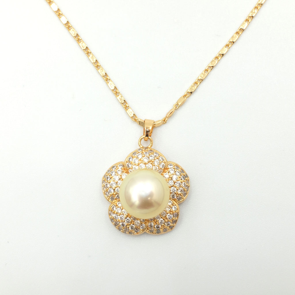 Chloris' Golden South Sea Pearl Necklace - Aniya Jewellery