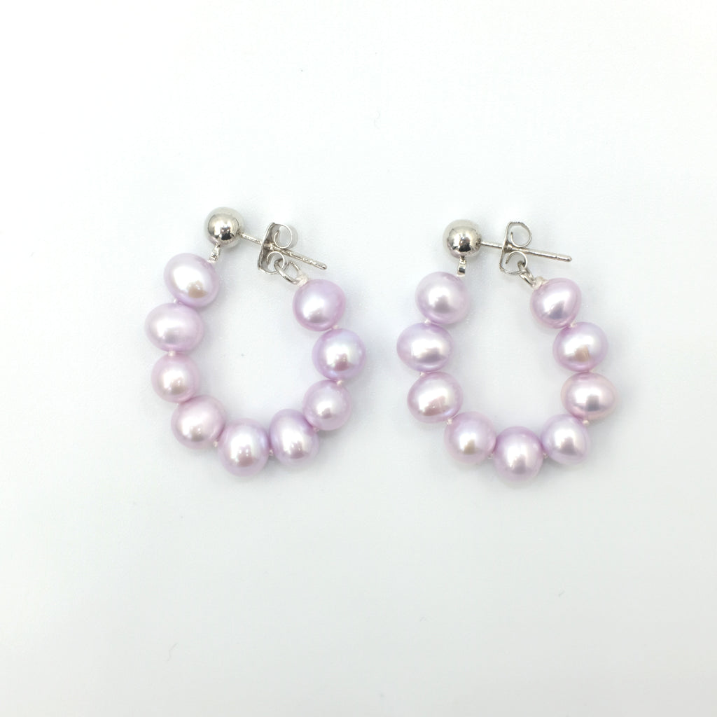 Cleo's Creola Style Pearl Earrings - Aniya Jewellery