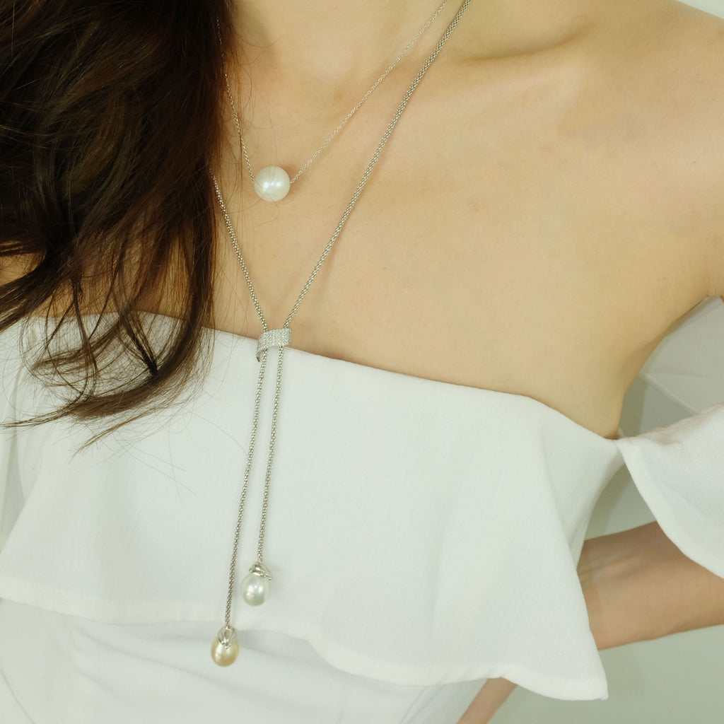 Tear drop South Sea Pearl necklace - Aniya Jewellery