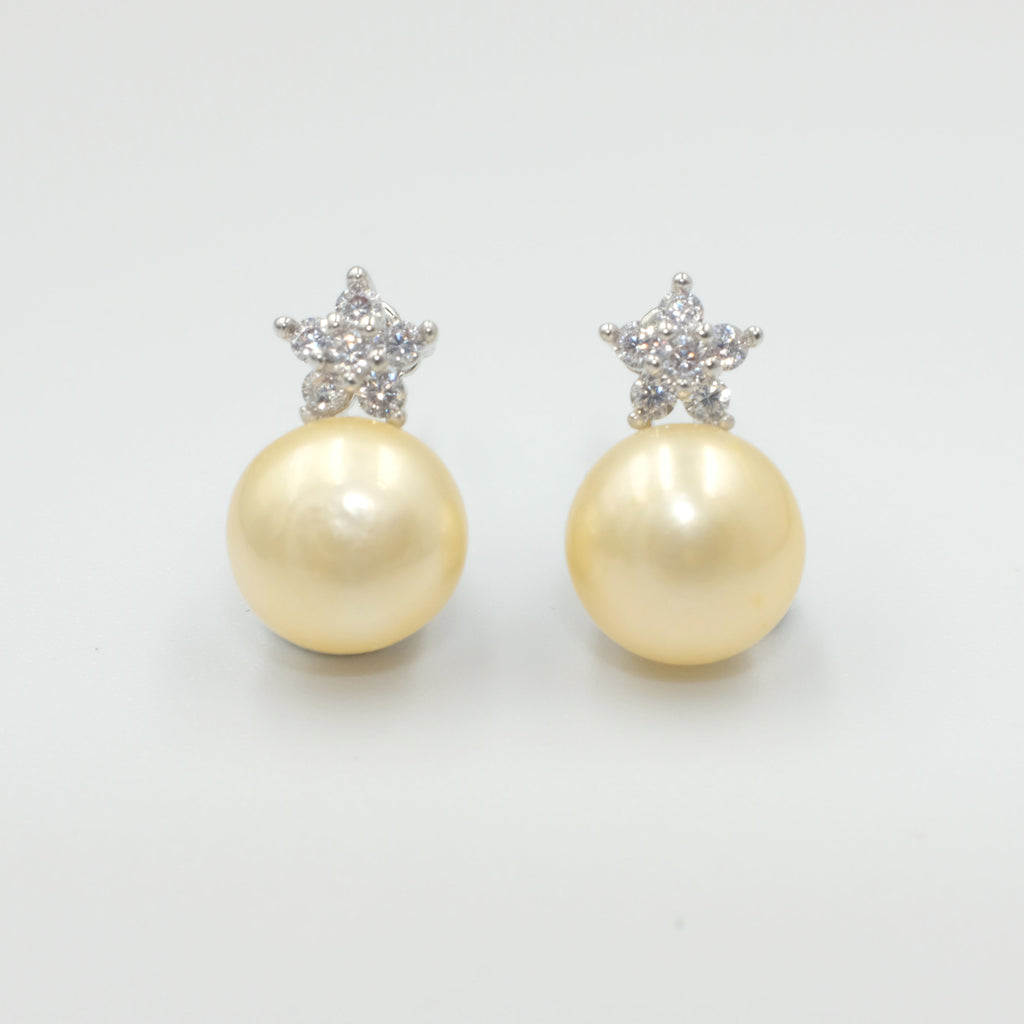Little Star Freshwater Pearl Earrings - Aniya Jewellery
