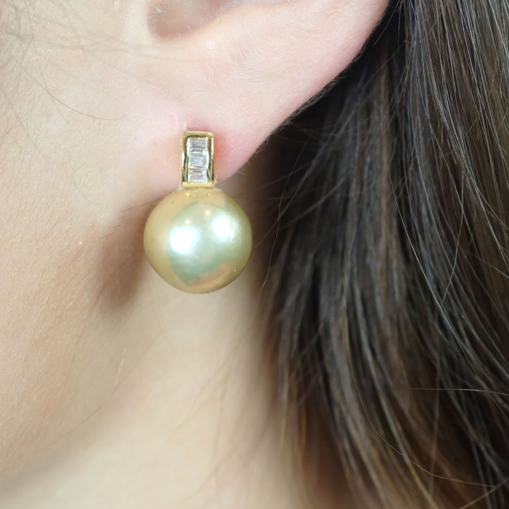 Cadence Gold Freshwater Pearl Earrings - Aniya Jewellery