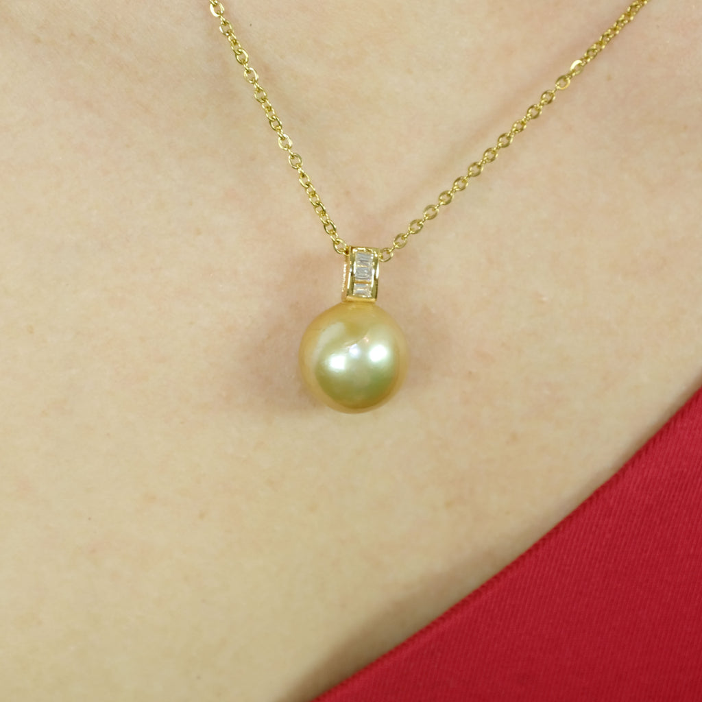 Cadence Gold Freshwater Pearl Necklace - Aniya Jewellery