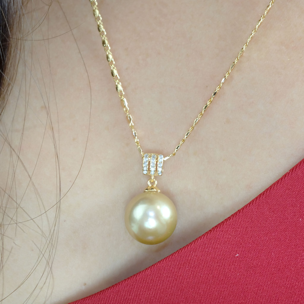 Cecile Gold Freshwater Pearl Necklace - Aniya Jewellery