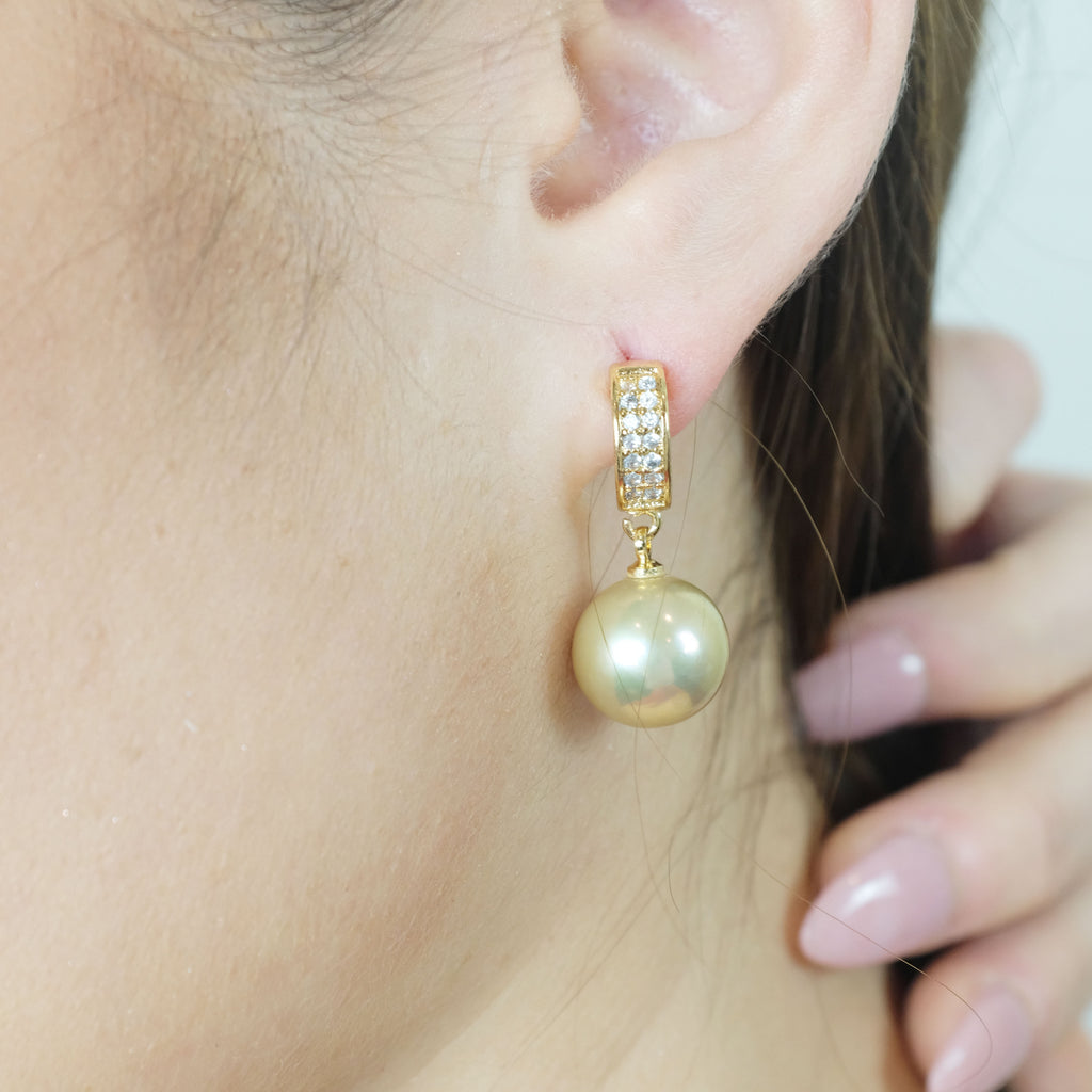 Celeste Gold Freshwater Pearl Earrings - Aniya Jewellery