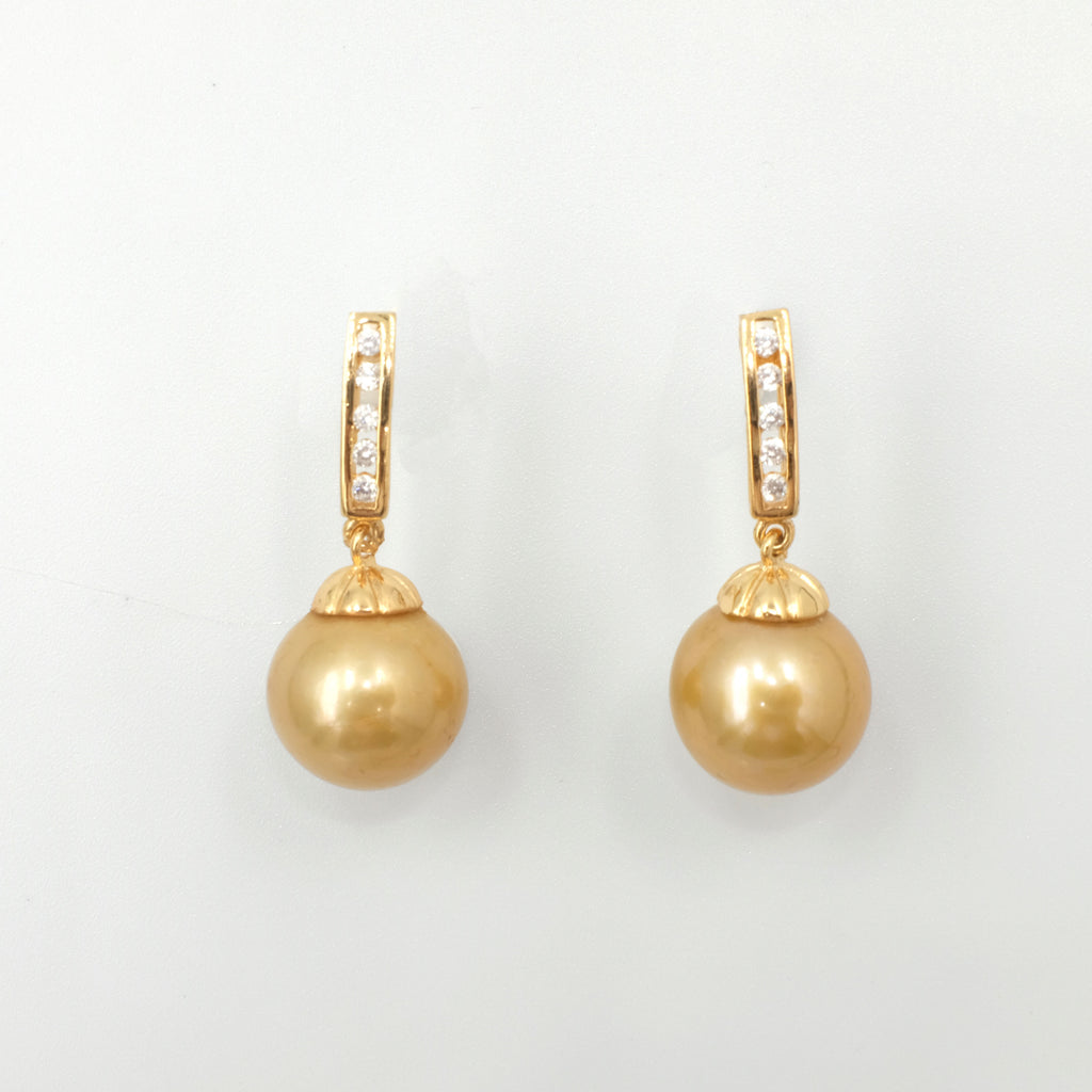 Claudette Gold Freshwater Pearl Earrings - Aniya Jewellery