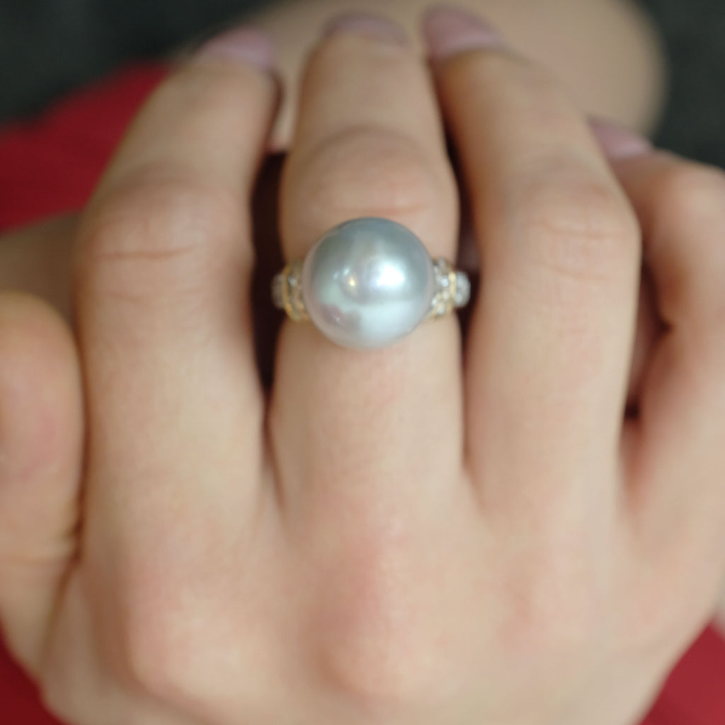 Georgine Pearl Ring - Aniya Jewellery