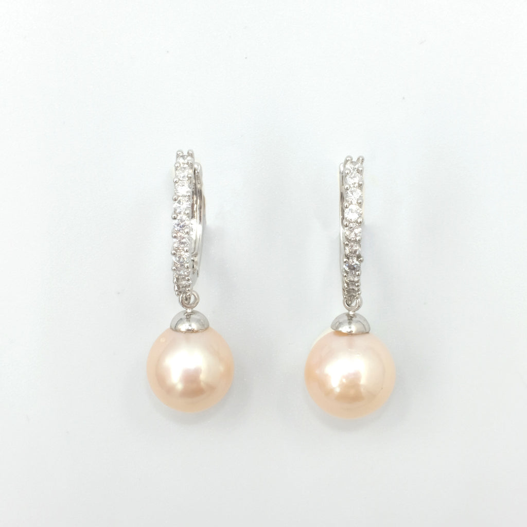 Emile Loop with Pearl Earrings - Aniya Jewellery