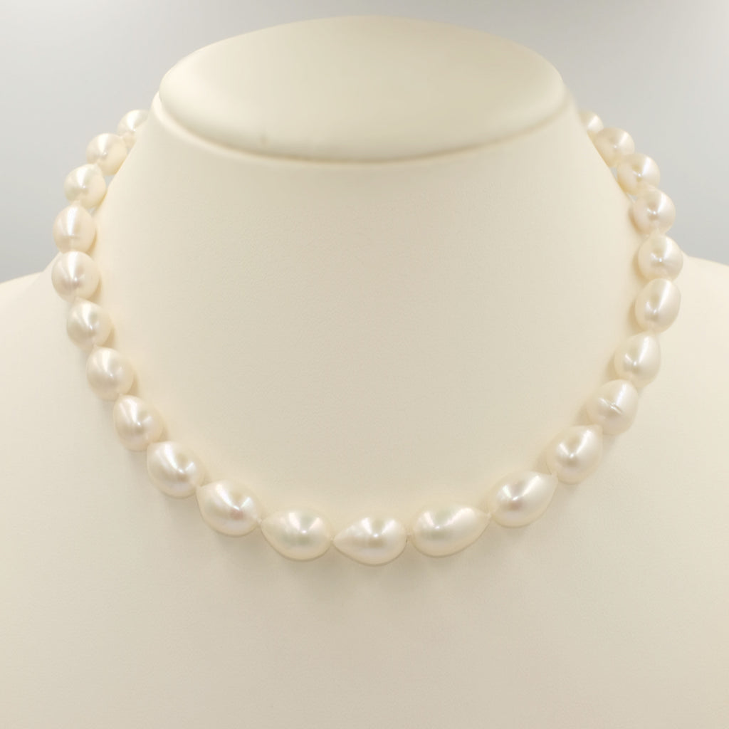 Single Strand Teardrop Shape Pearl Necklace - Aniya Jewellery