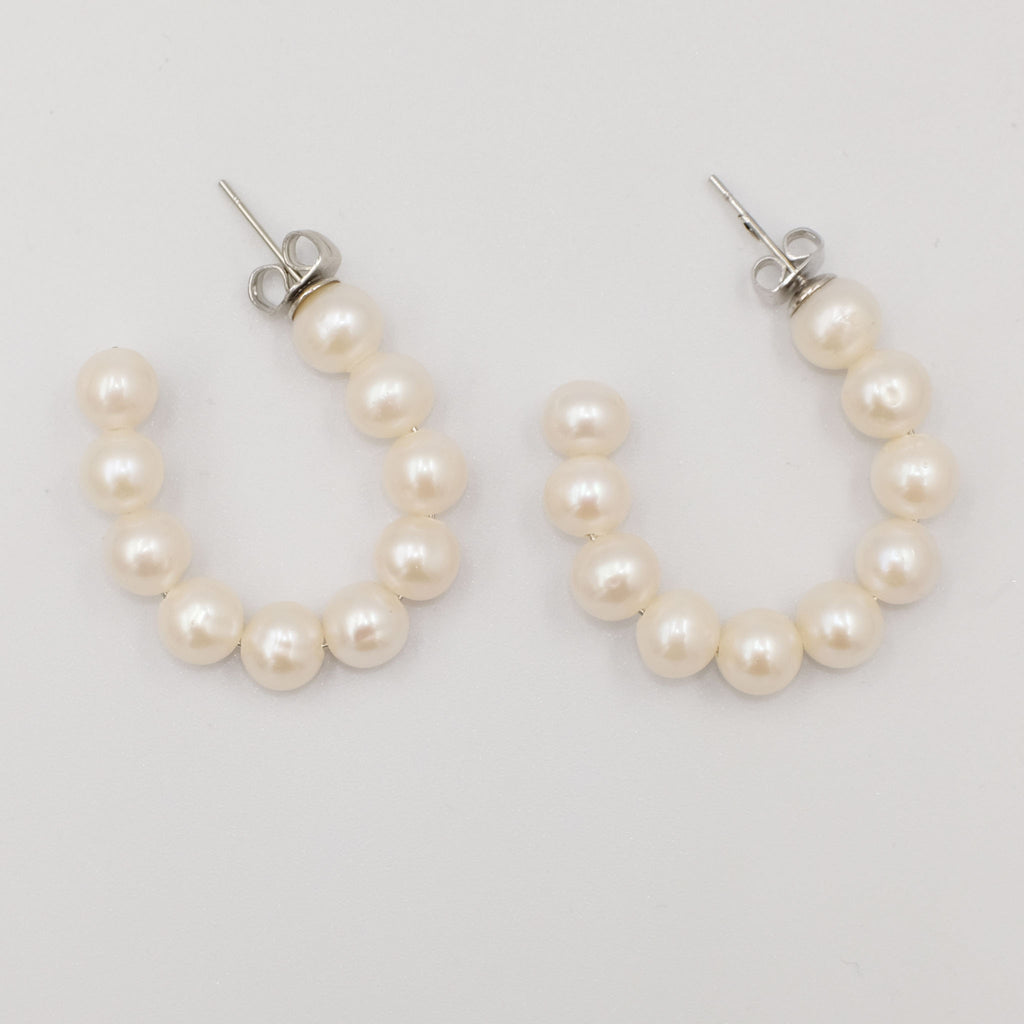 Pearl Loop Earrings - Aniya Jewellery