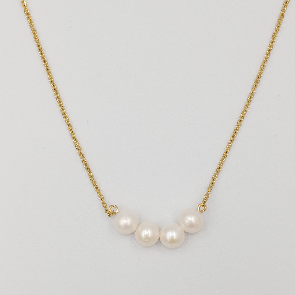 Four Friends Minimalist Pearl Necklace - Aniya Jewellery