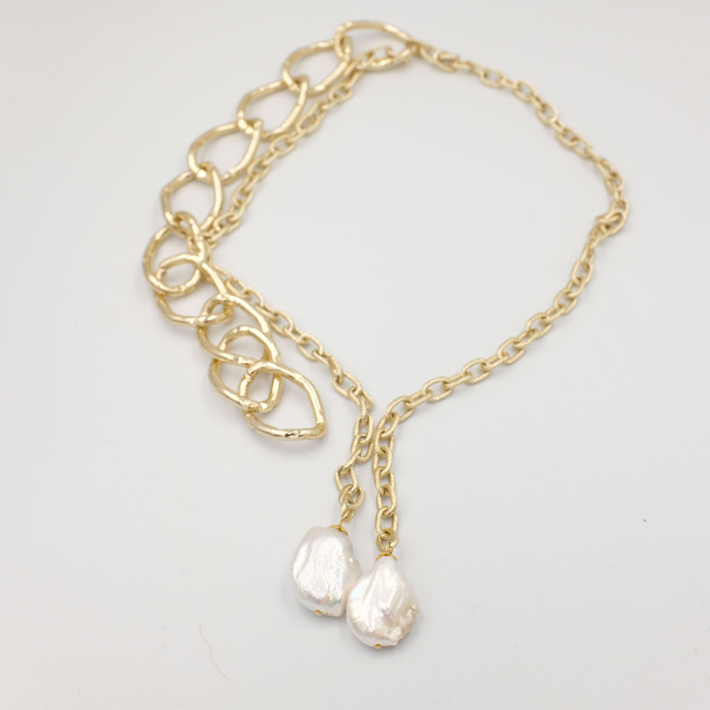 Hot Chunks Baroque Pearl Necklace - Aniya Jewellery