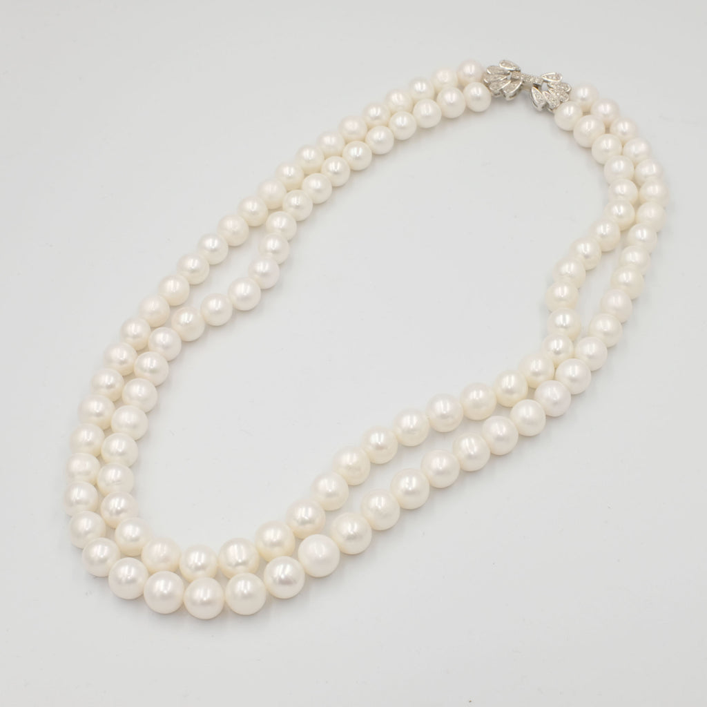 Double Layered Round Pearl Necklace