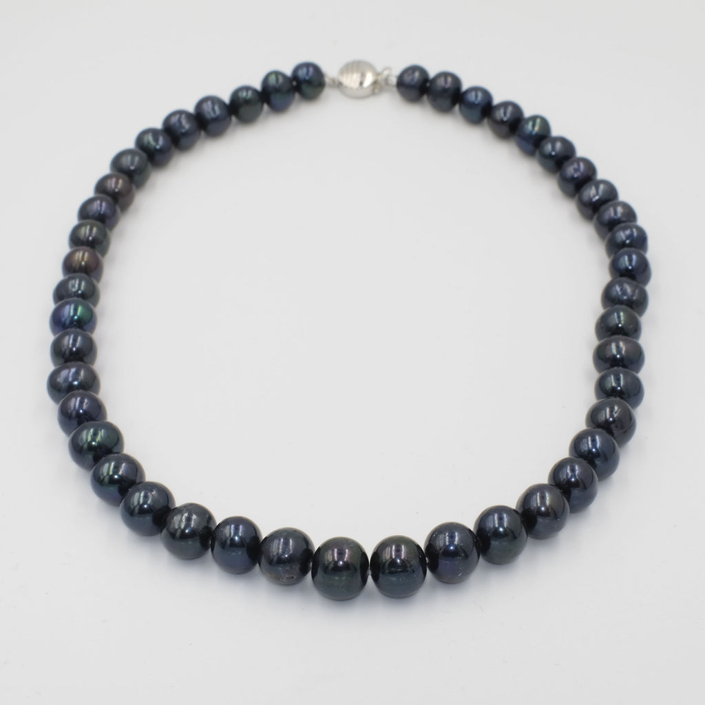 Alina Black Coloured Freshwater Pearl Necklace