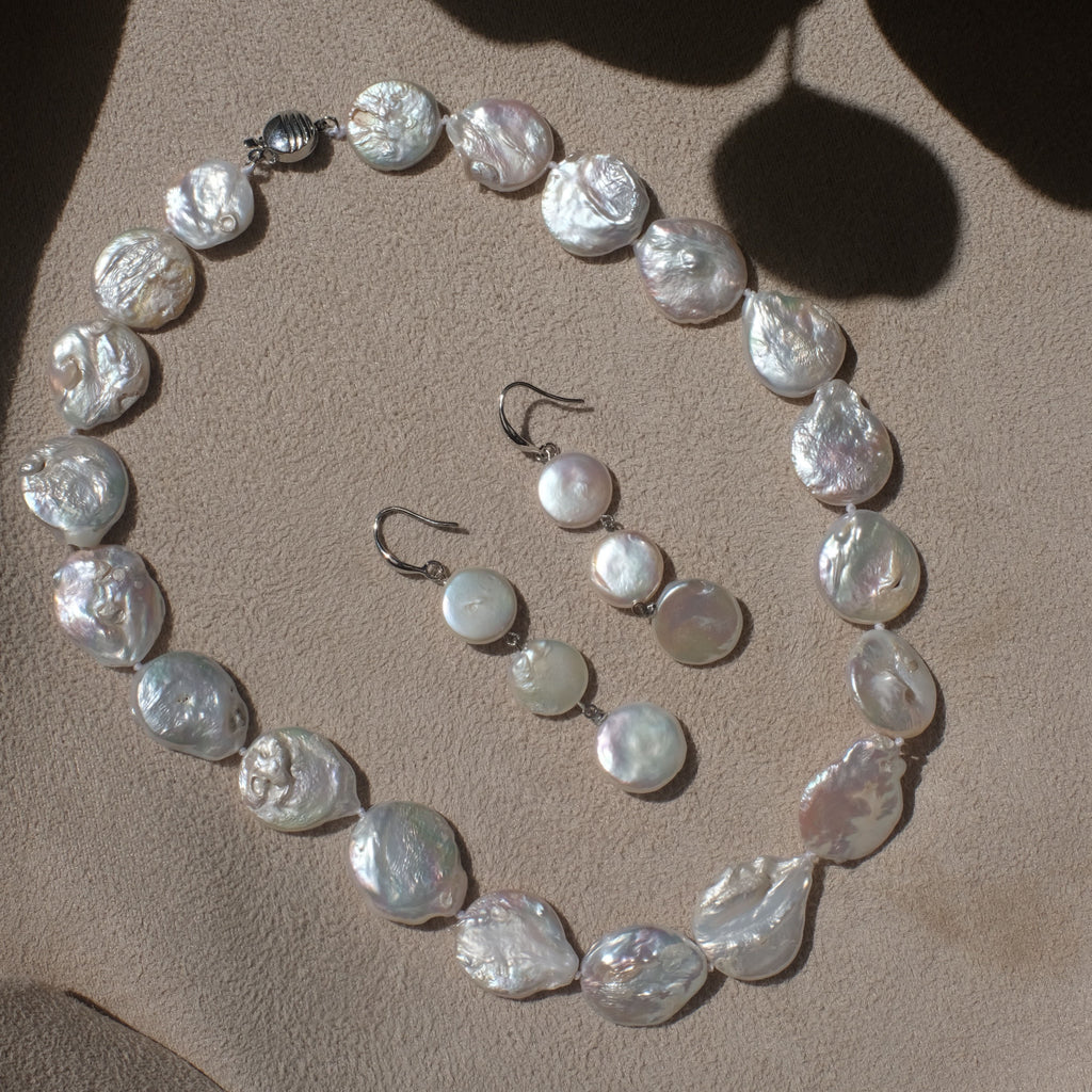 Coin Pearl Jewellery Set