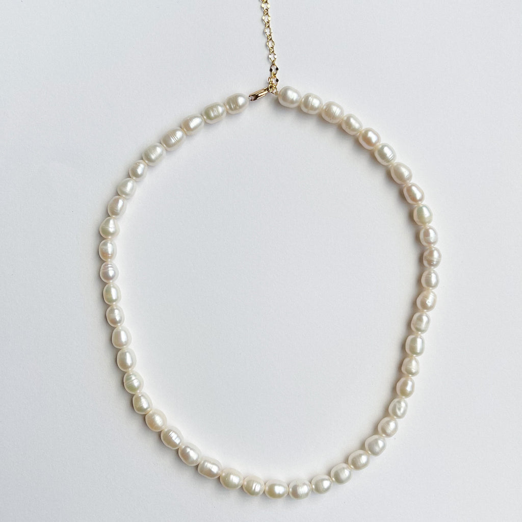 Teardrop Single Strand Pearl Choker