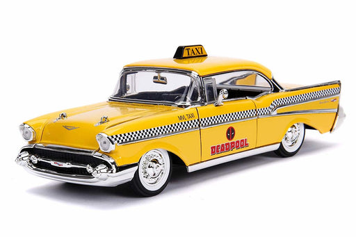 Jada 1:24 Die-Cast Hollywood Rides - Deadpool 1957 Chevrolet Bel Air Taxi Yellow - funky-toys-company