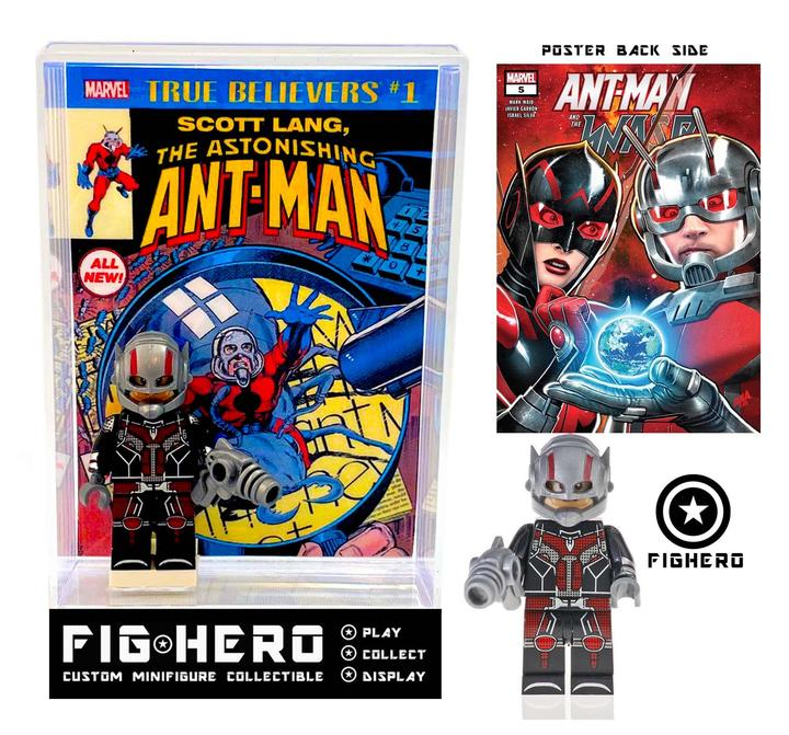 FIGHERO - Ant-Man - Custom Minifigure w/ Card & Display