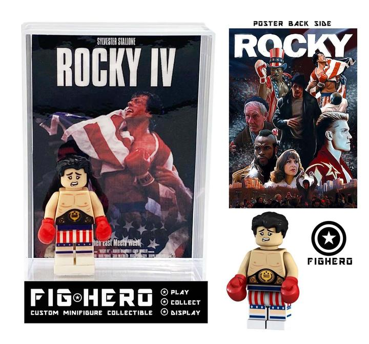 FIGHERO - Rocky - Custom Minifigure w/ Card & Display