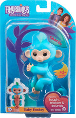 Fingerlings - Baby Monkey (Charlie Blue) - Funky Toys
