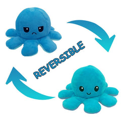 Octopus Reversible Plush Double-Sided Flip Doll - Light Blue & Blue - Funky Toys