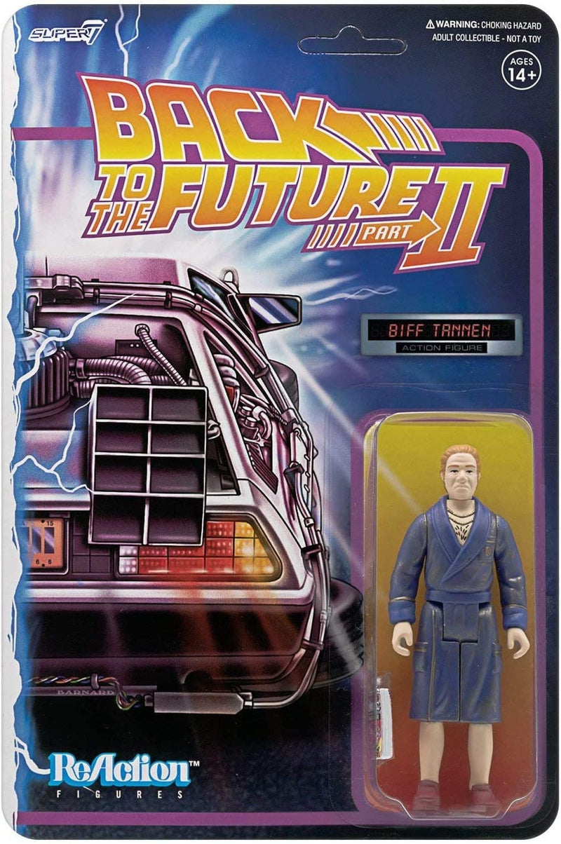 Super7 Back to The Future 2 Biff Tannen Bathrobe 3¾ Action Figure - Funky Toys