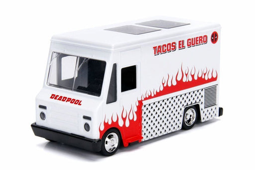 Jada 1:32 Die-Cast Hollywood Rides - Deadpool Taco Truck White - funky-toys-company