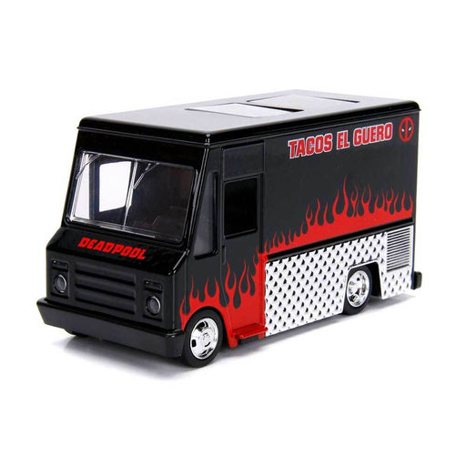 Jada 1:32 Die-Cast Hollywood Rides - Deadpool Taco Truck Black - funky-toys-company