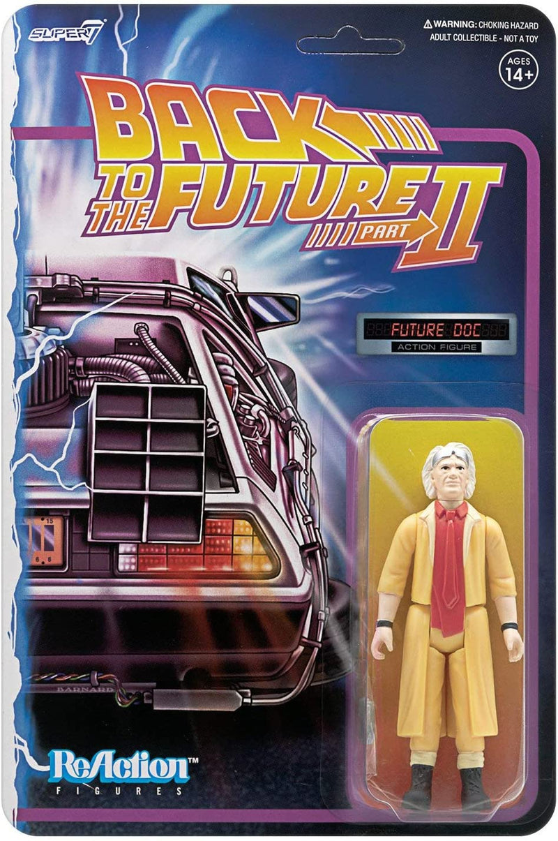 Super7 Back to The Future 2 Doc Brown 3¾ Action Figure - Funky Toys