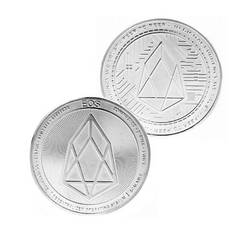EOS Coin - Silver Metal Physical Blockchain Cryptocurrency Collectible Coin - Funky Toys