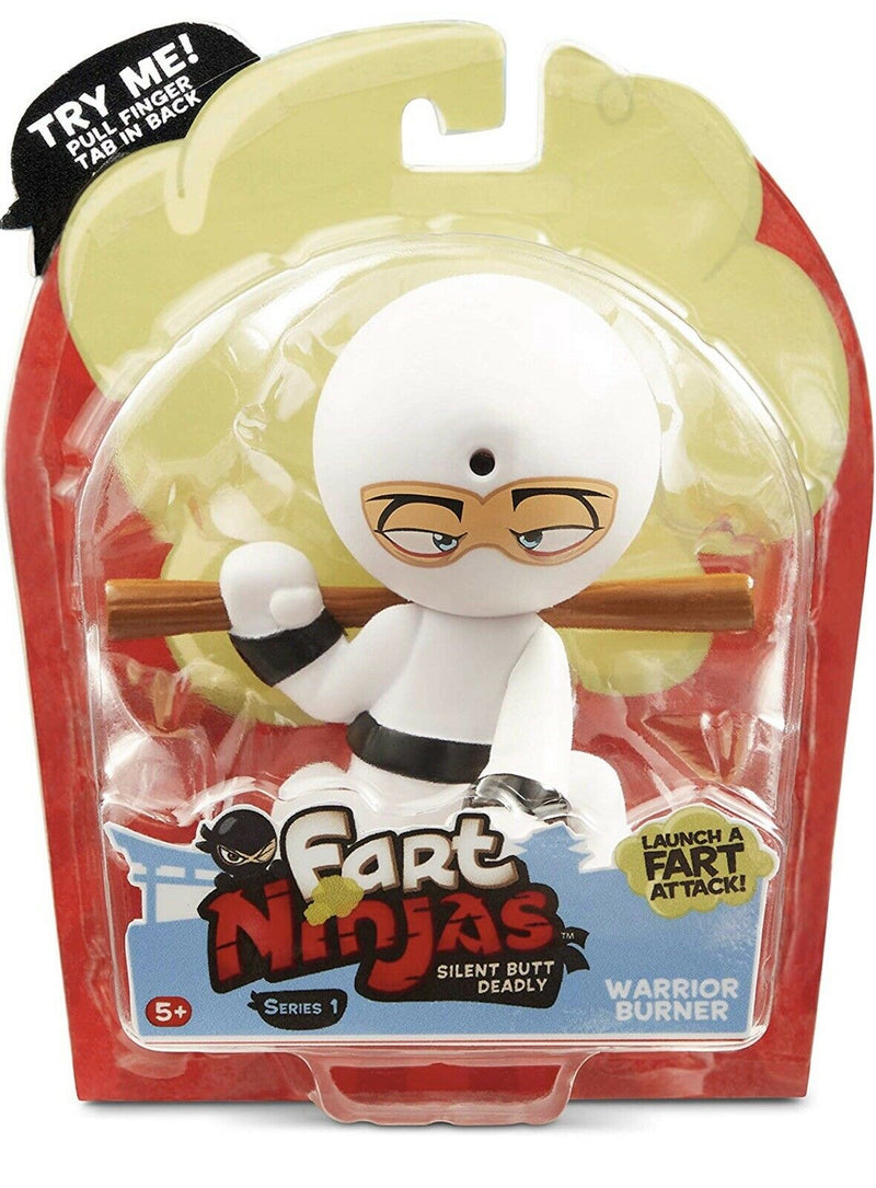 Fart Ninja - Warrior Burner (White/Black) - Funky Toys