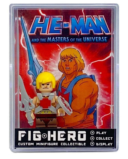 FIGHERO - He-Man MOTU - Custom Minifigure w/ Card & Display
