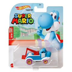 Copy of Hot Wheels Super Mario Character Cars - Light-Blue Yoshi - Funky Toys
