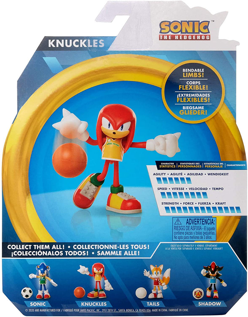 Sonic the Hedgehog 4 inch Action Figure - Knuckles With Basketball - Funky Toys