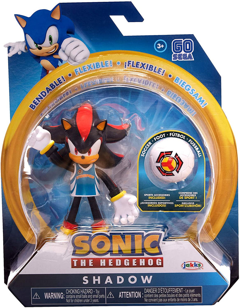 Sonic the Hedgehog 4 inch Action Figure - Shadow with Soccer Ball - Funky Toys