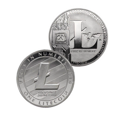 Litecoin Coin - Silver Metal Physical Blockchain Cryptocurrency Collectible Coin - Funky Toys