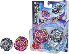 Beyblade Burst Surge Speedstorm Dual Collection Pack - Perfect Phoenix P4 Myth EVO Dragon D5 - Funky Toys